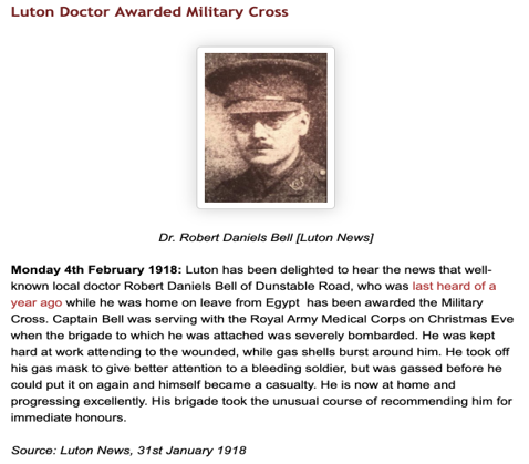 Luton Doctor Awarded Military Cross